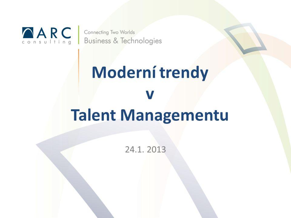 24.1. 2013 Moderní trendy v Talent Managementu