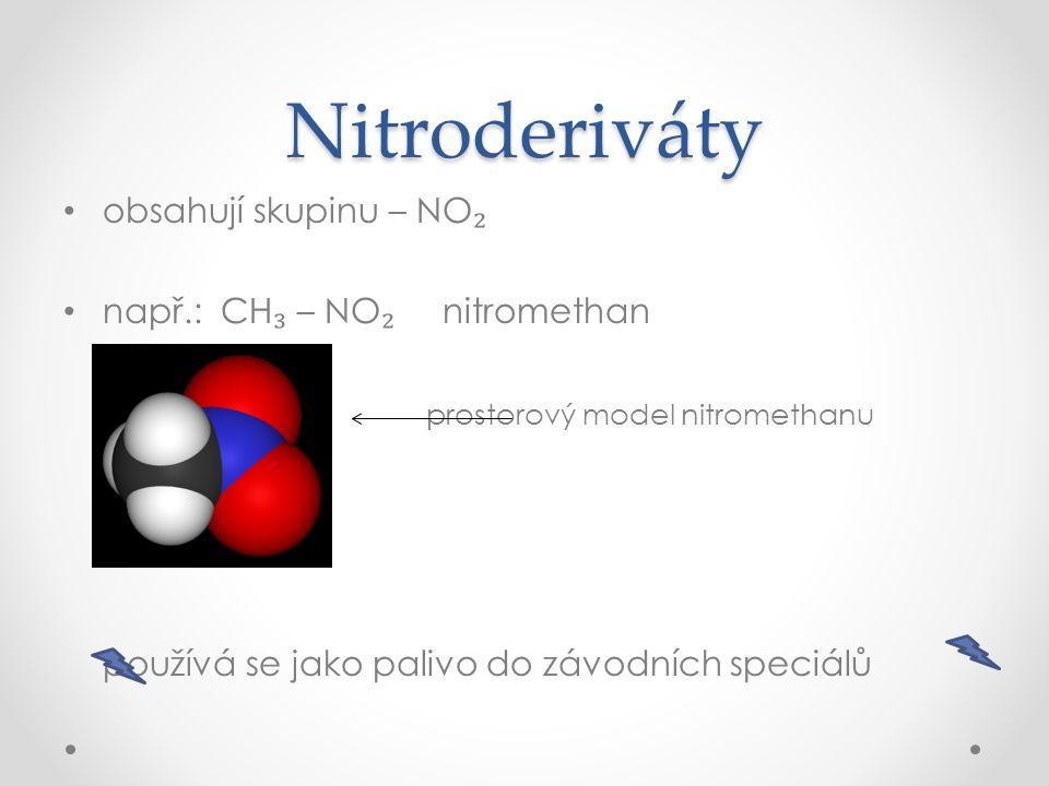 Aminoderiváty obsahují skupinu – NH ₂ např.: CH ₃ – NH ₂ aminomethan významné biogenní prvkybiogenní prvky vysvětli, a pak klikni pro odpověď