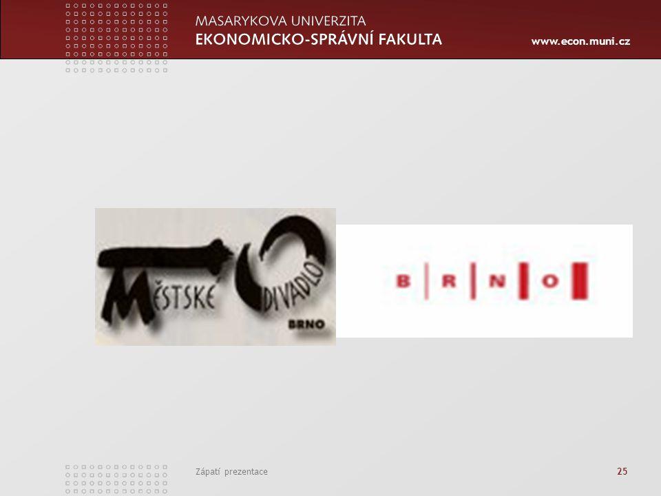 www.econ.muni.cz Zápatí prezentace 25
