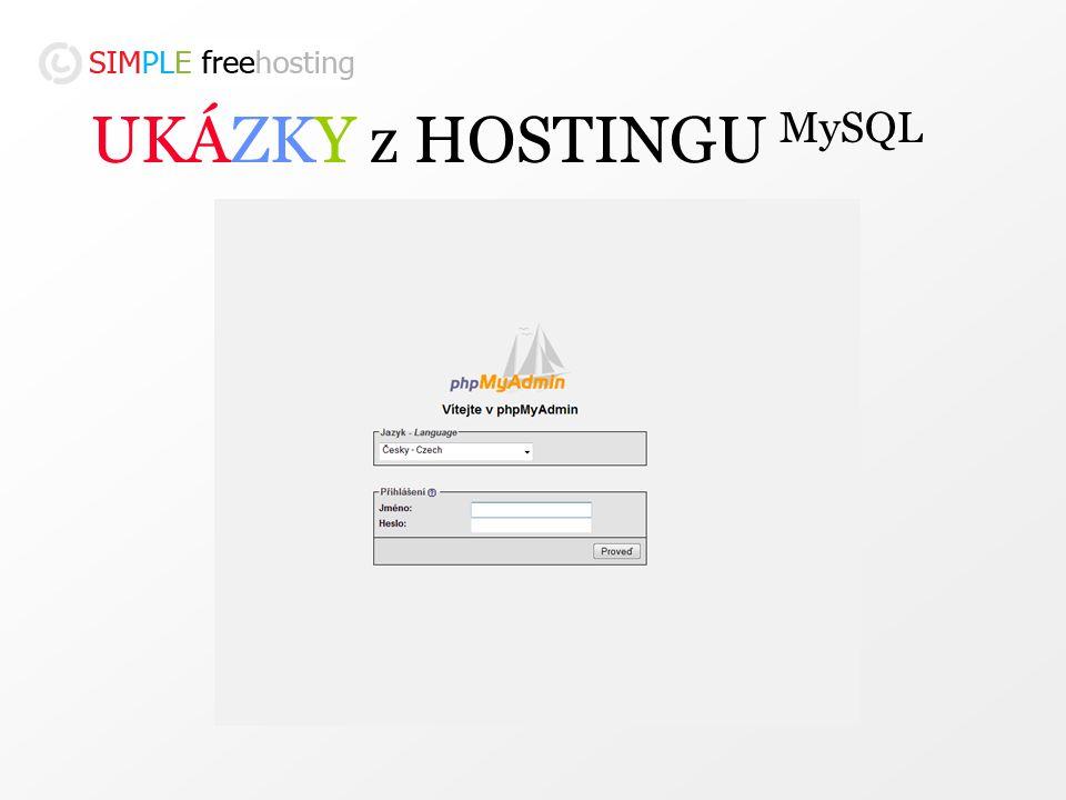 UKÁZKY z HOSTINGU MySQL
