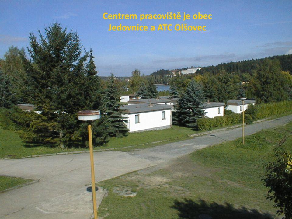 Centrem pracoviště je obec Jedovnice a ATC Olšovec