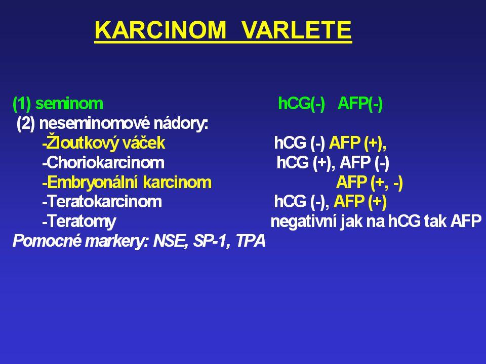 KARCINOM LARYNGU a HYPOFARYNGU Nový marker – průkaz metaplazie epitelu Ezofagu (žaludku event. kolon) * GC-C (guanylyl-cyklasa) (detekuje 1 maligní na