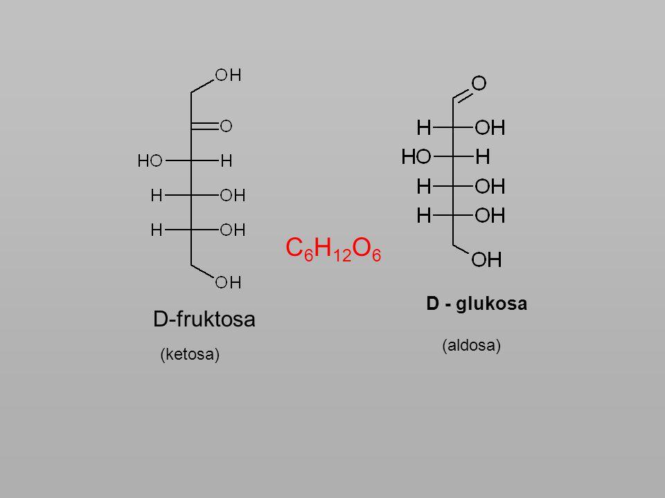 Chování ve vodném roztoku Vzniká zde cyklická struktura reakcí skupin -OH a –COH, vzniká poloacetalová vazba (i u pentos) CHO OHH HOH 2 C H HOHH Vznik 6-členného cyklu