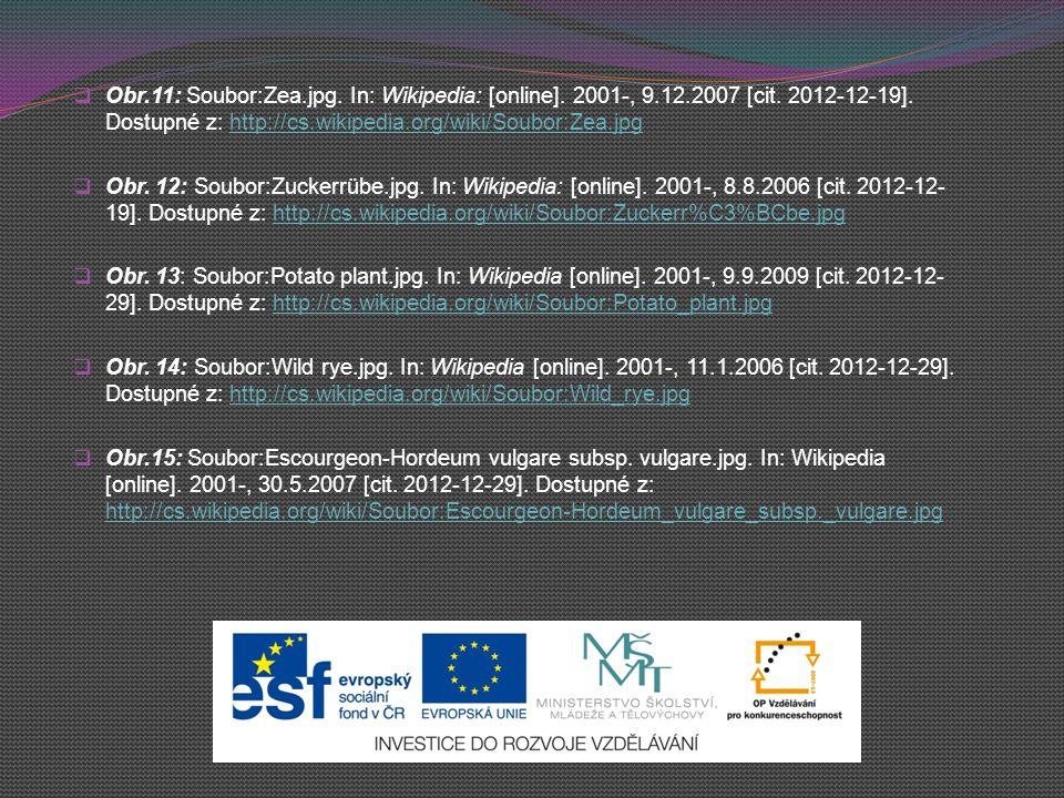  Obr.11: Soubor:Zea.jpg. In: Wikipedia: [online]. 2001-, 9.12.2007 [cit. 2012-12-19]. Dostupné z: http://cs.wikipedia.org/wiki/Soubor:Zea.jpghttp://c