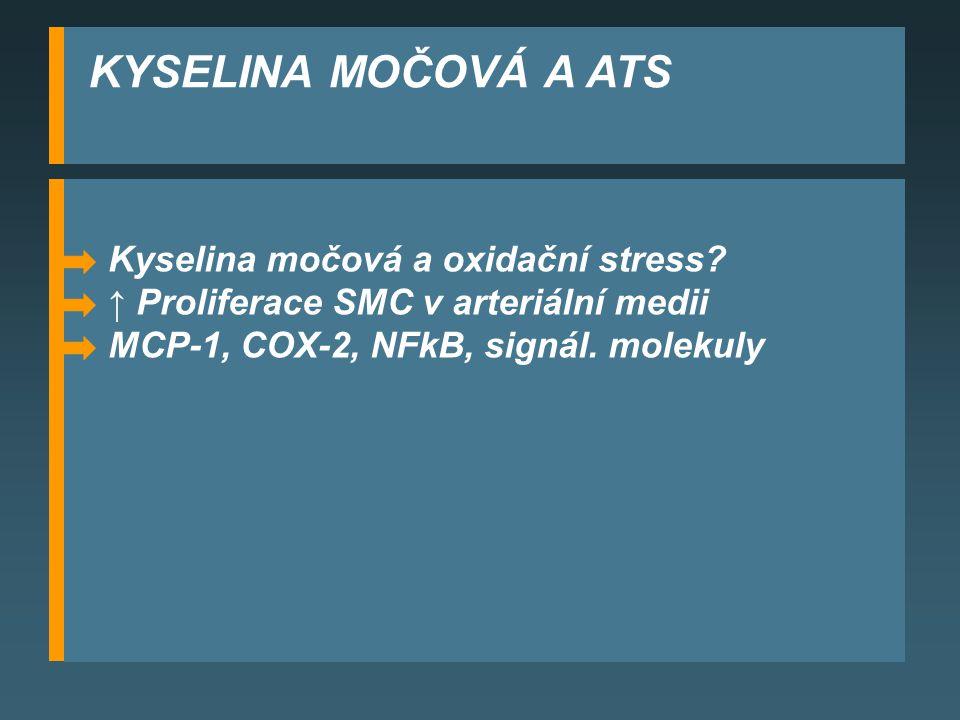 KYSELINA MOČOVÁ A ATS Kyselina močová a oxidační stress.