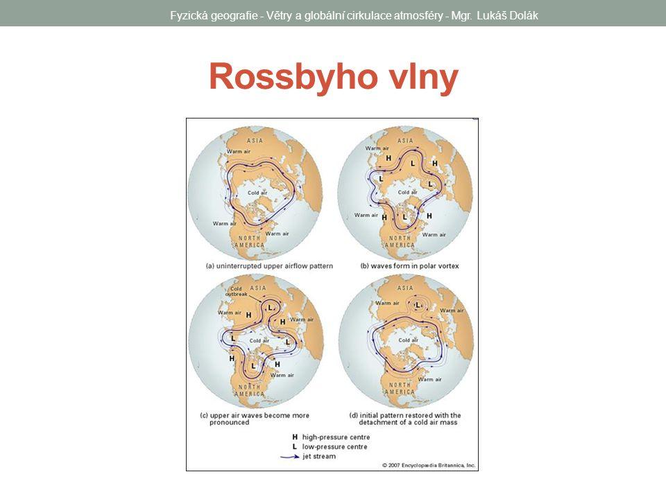 Rossbyho vlny Fyzická geografie - Větry a globální cirkulace atmosféry - Mgr. Lukáš Dolák