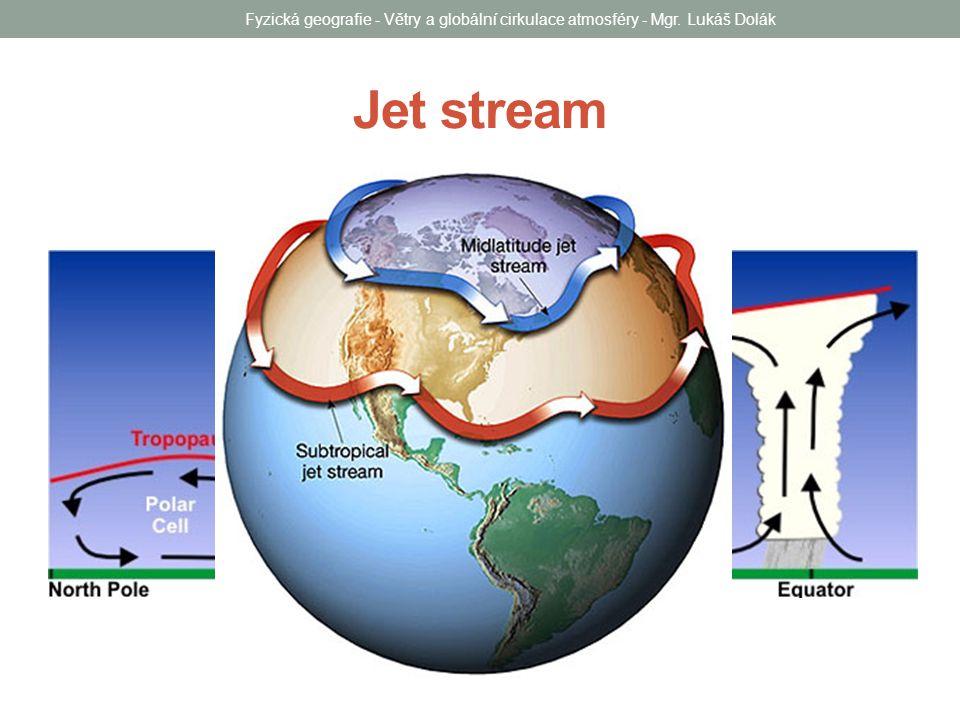 Jet stream Fyzická geografie - Větry a globální cirkulace atmosféry - Mgr. Lukáš Dolák