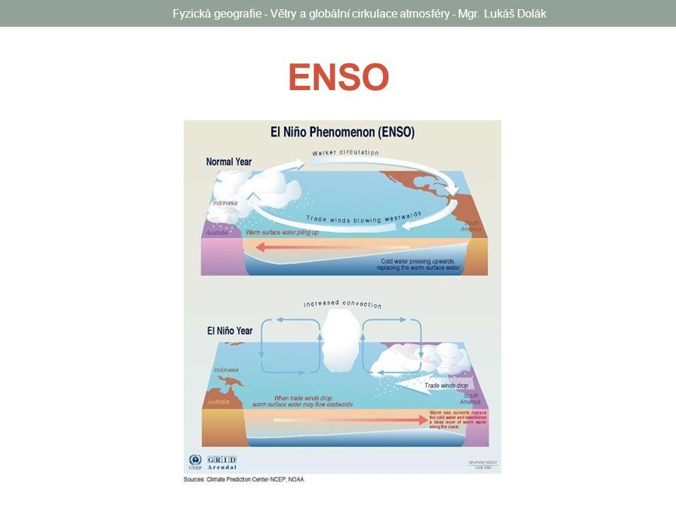 ENSO Fyzická geografie - Větry a globální cirkulace atmosféry - Mgr. Lukáš Dolák