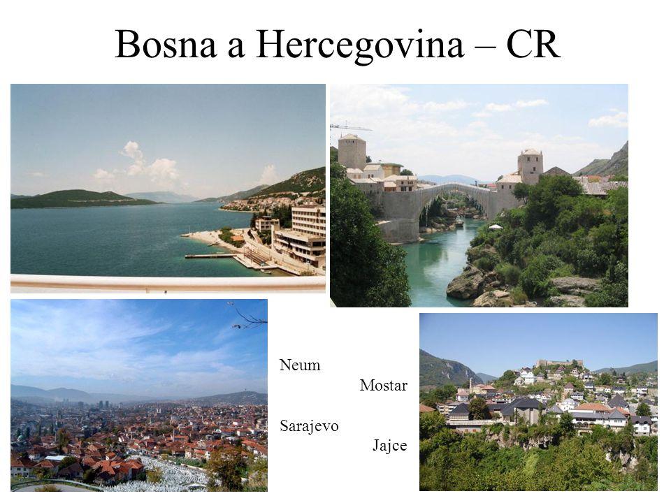 Bosna a Hercegovina – CR Neum Mostar Sarajevo Jajce