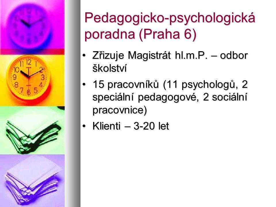 Pedagogicko-psychologická poradna (Praha 6) Zřizuje Magistrát hl.m.P.