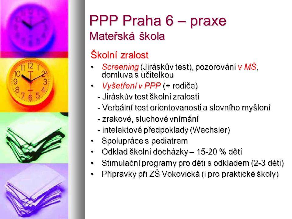 """PPP Praha 6 – praxe Základní škola Specifické poruchy učení (dys-) -PPP – diagnostika -ZŠ – """"dys kluby -1.stupeň (doučování) -Praha 6 – škola pro děti s SPU (6.-9."""