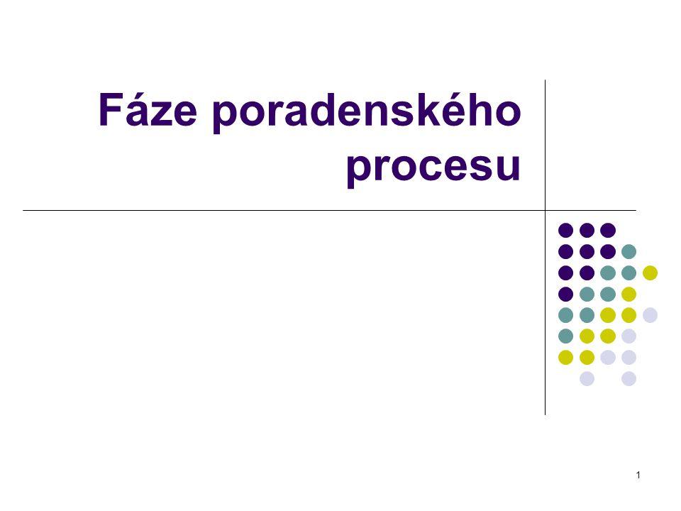 1 Fáze poradenského procesu