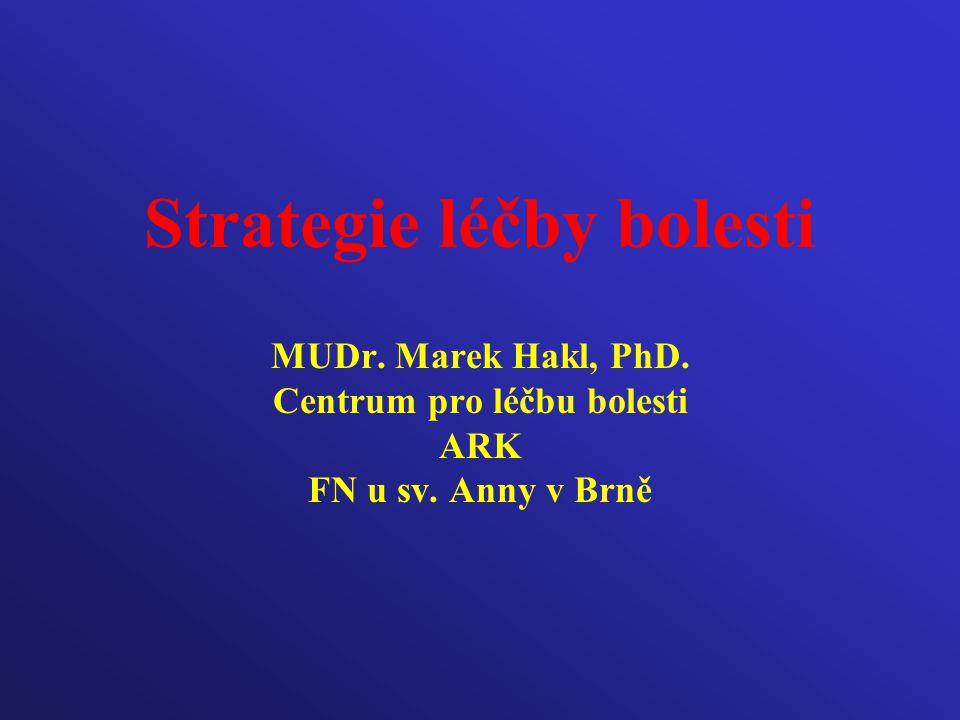 Strategie léčby bolesti MUDr. Marek Hakl, PhD. Centrum pro léčbu bolesti ARK FN u sv. Anny v Brně