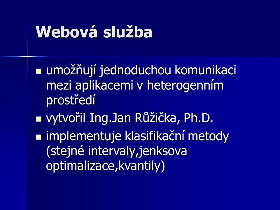 Webová služba umožňují jednoduchou komunikaci mezi aplikacemi v heterogenním prostředí umožňují jednoduchou komunikaci mezi aplikacemi v heterogenním