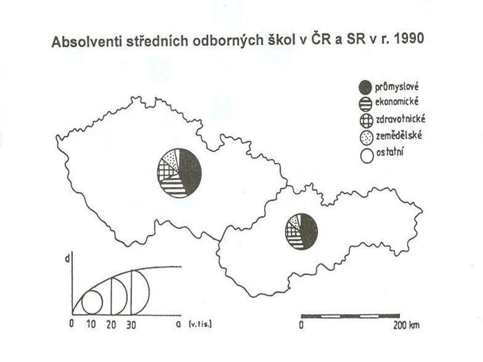 Kartogram  mapa s dílčími územními celky, do kterých jsou plošným způsobem znázorněna statistická data (relativní hodnoty)  jednoduchý homogenní  jednoduchý kvalifikační