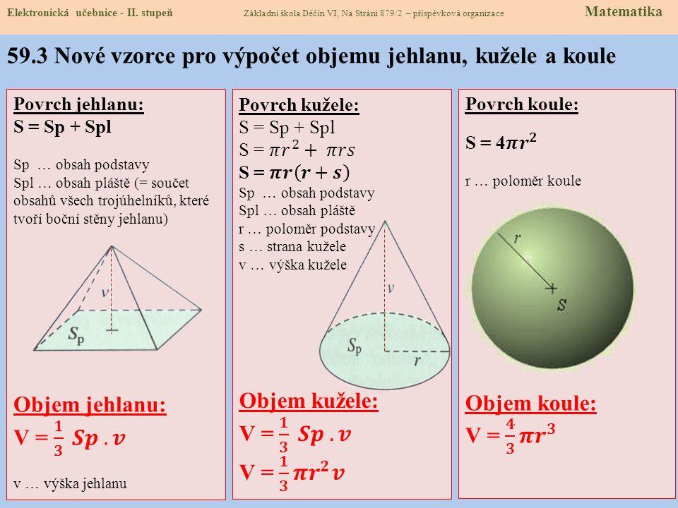 59.2 Co už umíme Elektronická učebnice - II. stupeň Základní škola Děčín VI, Na Stráni 879/2 – příspěvková organizace Matematika S = a.b