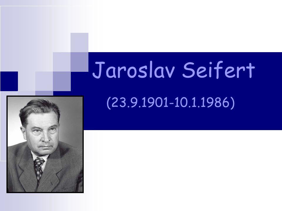 Jaroslav Seifert (23.9.1901-10.1.1986)