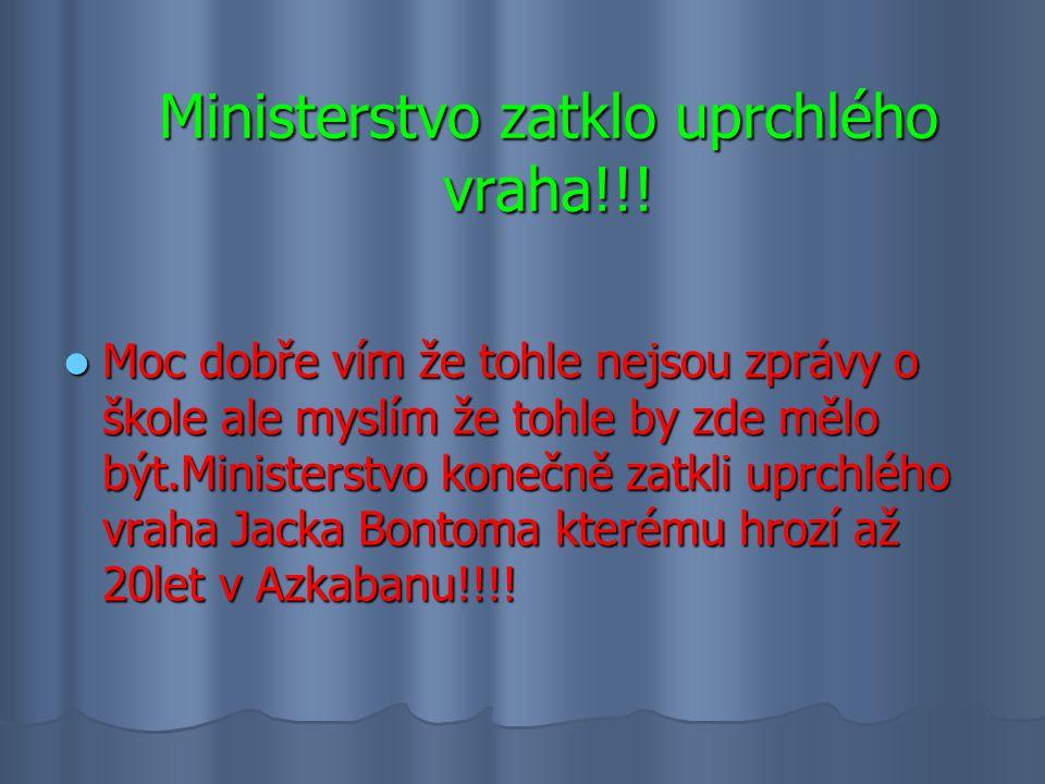 Ministerstvo zatklo uprchlého vraha!!.