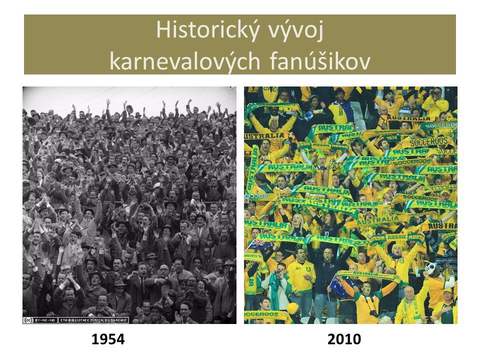 Historický vývoj karnevalových fanúšikov 19542010