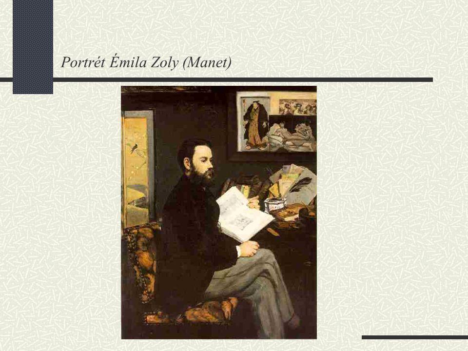 Život Émila Zoly 1840 – 1902 představitel naturalismu, romanopisec z rodiny italského inženýra (otec bývalý důstojník Napoleonovy armády) v 18 letech se s matkou přistěhovali do Paříže z finančních důvodů přerušil studie bídou donucen pracovat v nakladatelství (později vydání jeho prací) po třech neúspěších se prosadil až r.1867 (Tereza Raquinová) r.1897 napsal dopis fr.