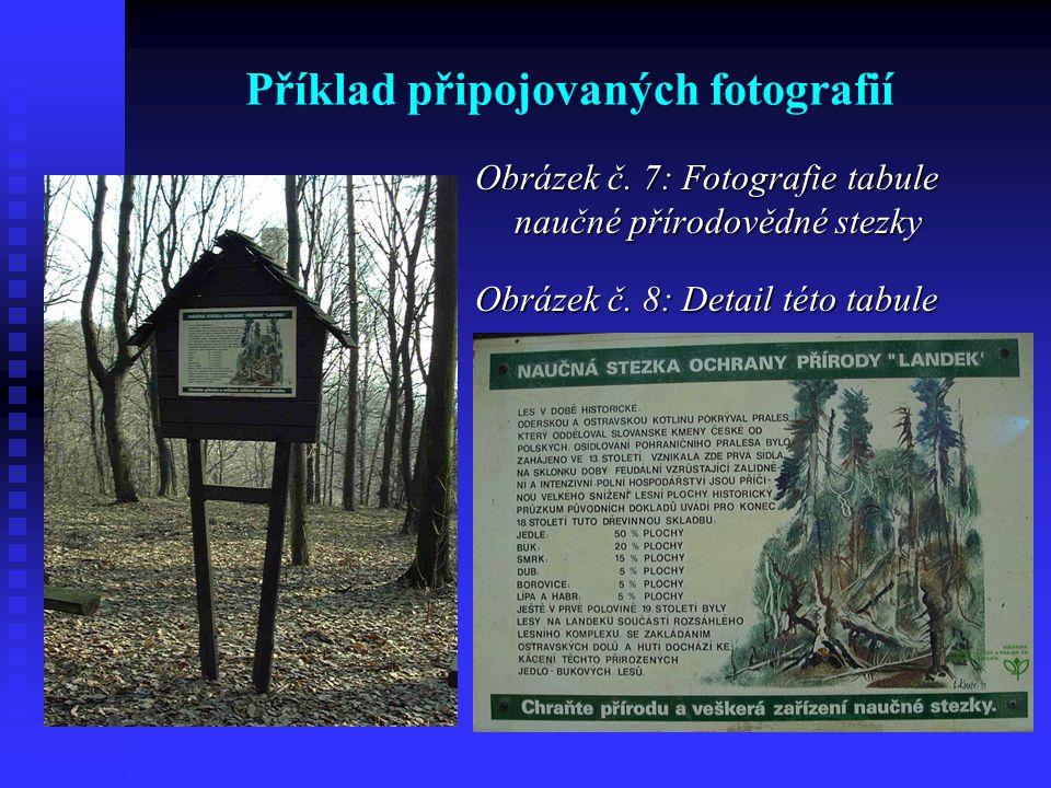 Příklad připojovaných fotografií Obrázek č.