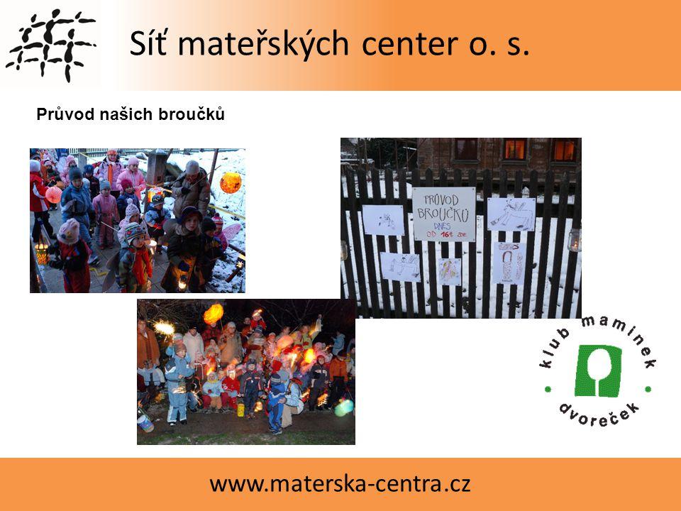 Síť mateřských center o. s. www.materska-centra.cz Čajový obřadVyrábíme Průvod našich broučků