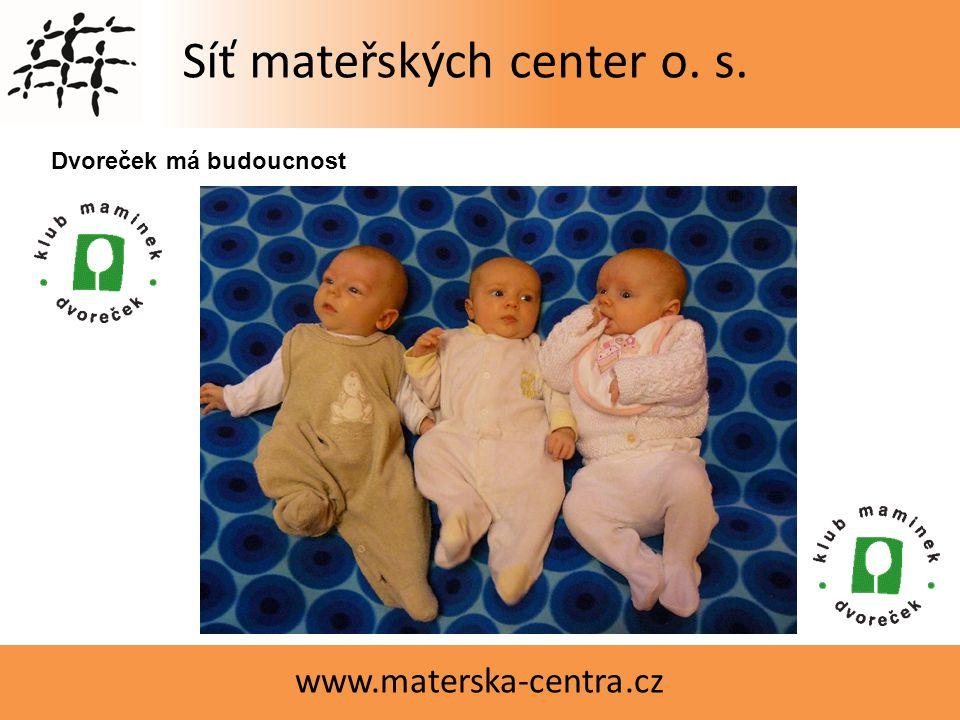 Síť mateřských center o. s. www.materska-centra.cz Čajový obřadVyrábíme Dvoreček má budoucnost