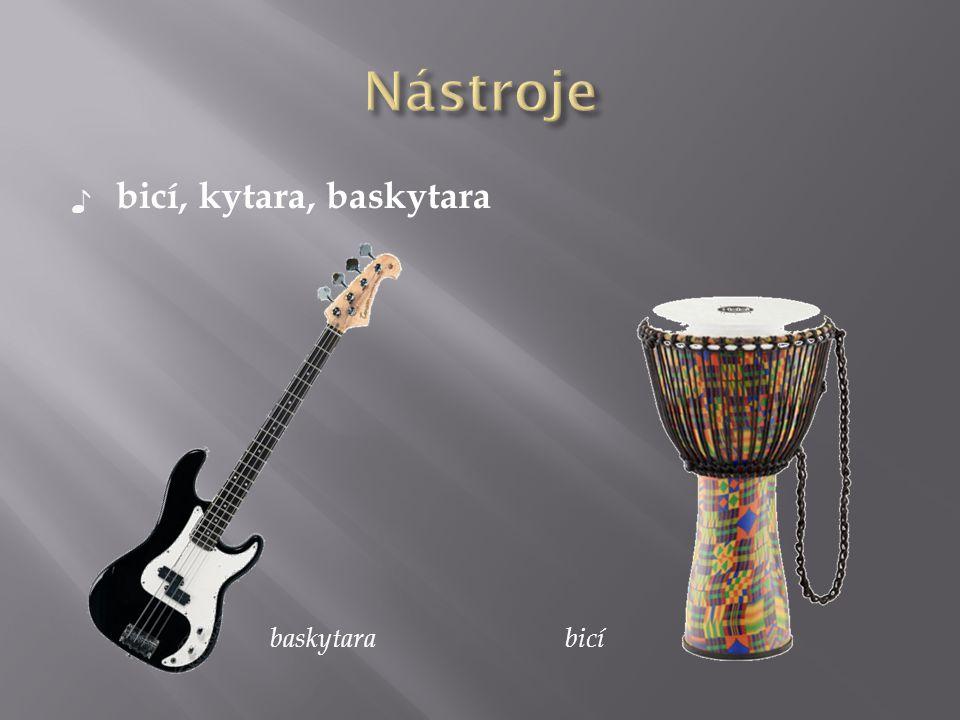 ♪ bicí, kytara, baskytara baskytarabicí