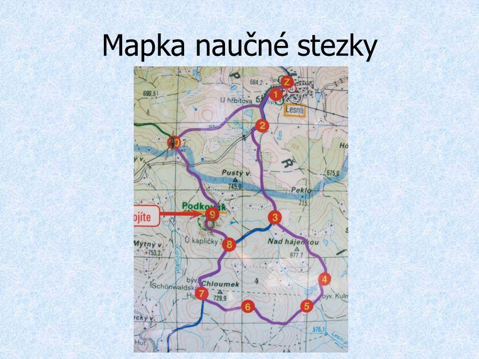 Mapka naučné stezky