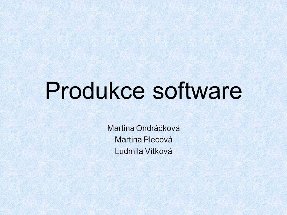 Produkce software Martina Ondráčková Martina Plecová Ludmila Vítková