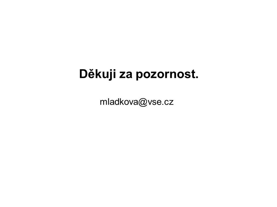 Děkuji za pozornost. mladkova@vse.cz
