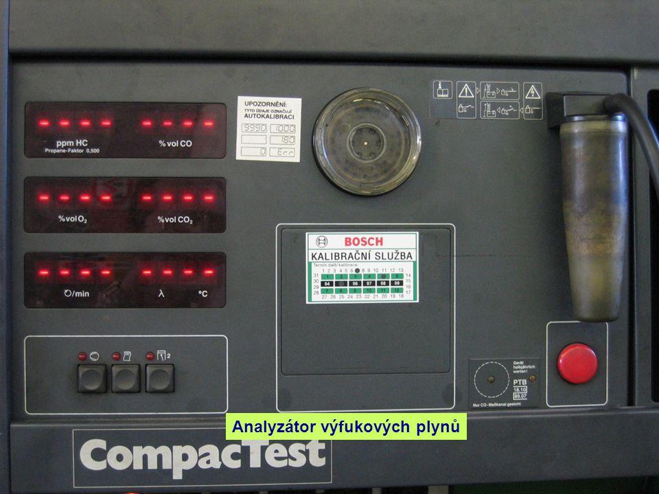 Vývody pro připojení analyzátoru k vozidlu.