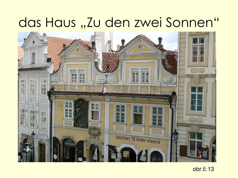 "das Haus ""Zu den zwei Sonnen obr.č.13"