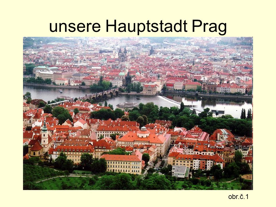 unsere Hauptstadt Prag obr.č.1