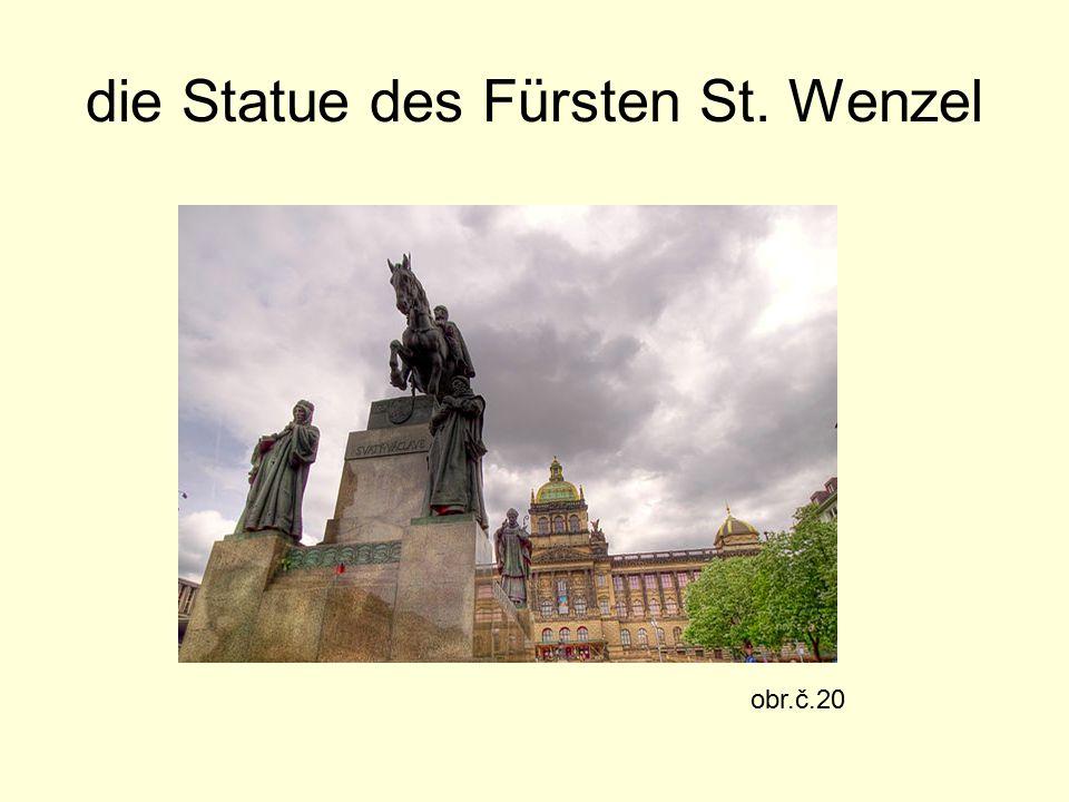 die Statue des Fürsten St. Wenzel obr.č.20