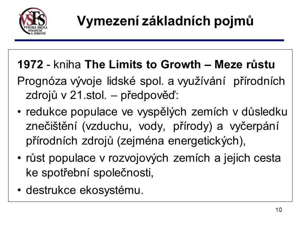 10 1972 - kniha The Limits to Growth – Meze růstu Prognóza vývoje lidské spol.