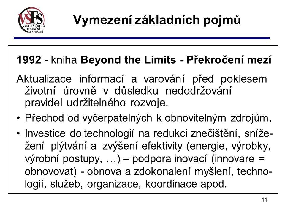 11 1992 - kniha Beyond the Limits - Překročení mezí Aktualizace informací a varování před poklesem životní úrovně v důsledku nedodržování pravidel udržitelného rozvoje.