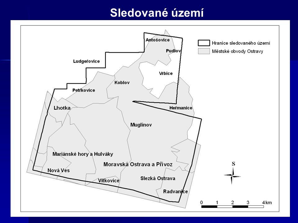 Ukázka změny zástavby z roku 1946 na krajinný prvek technogenní tvar roku 2001 rok 1946rok 2001 - oblast Moravské Ostravy v blízkosti Frýdlantských mostů - areál bývalé Karolíny