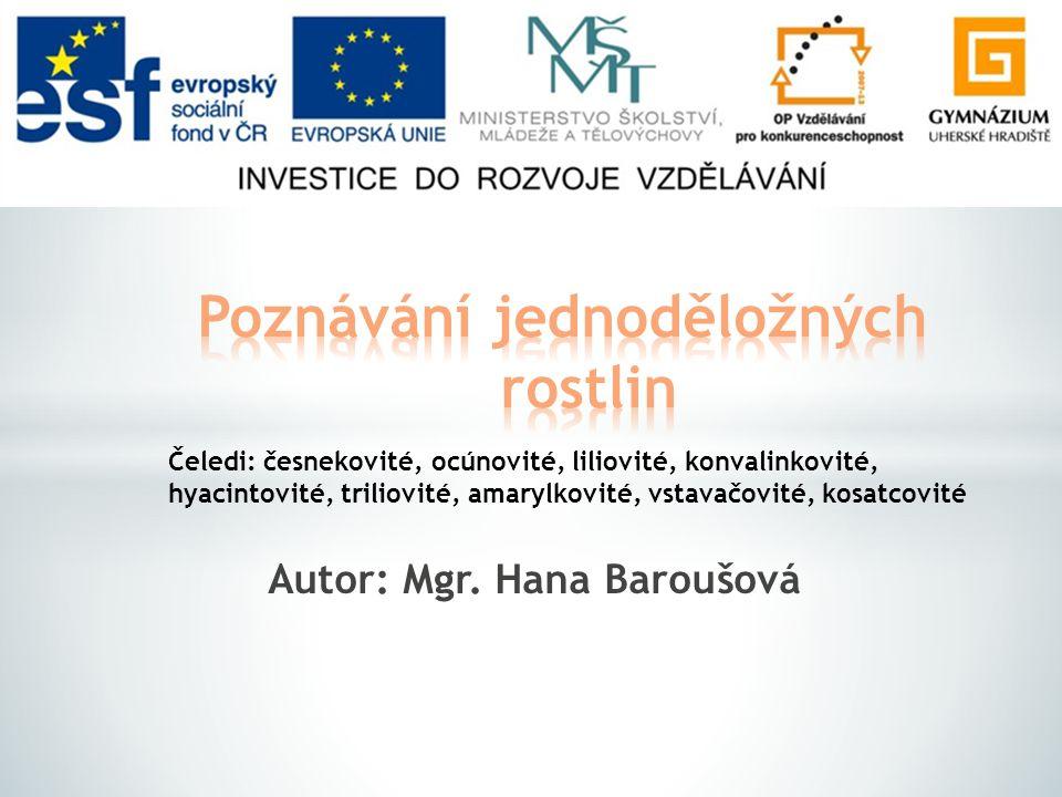 Řešení Pozn.: Názvosloví vychází z literatury: KUBÁT, Karel a Radmila BĚLOHLÁVKOVÁ.