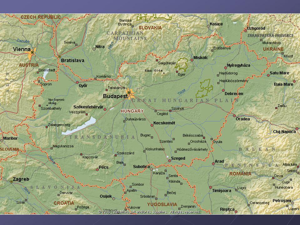 Přírodní podmínky Podnebí – mírné vnitrozemské, spíše sušší Nížiny často zatopeny Vodstvo největší řekou Dunaj (splavný po celé délce), Tizsa Největší jezero – Balaton (Blatenské) – tektonického původu, Neziderské - stepní