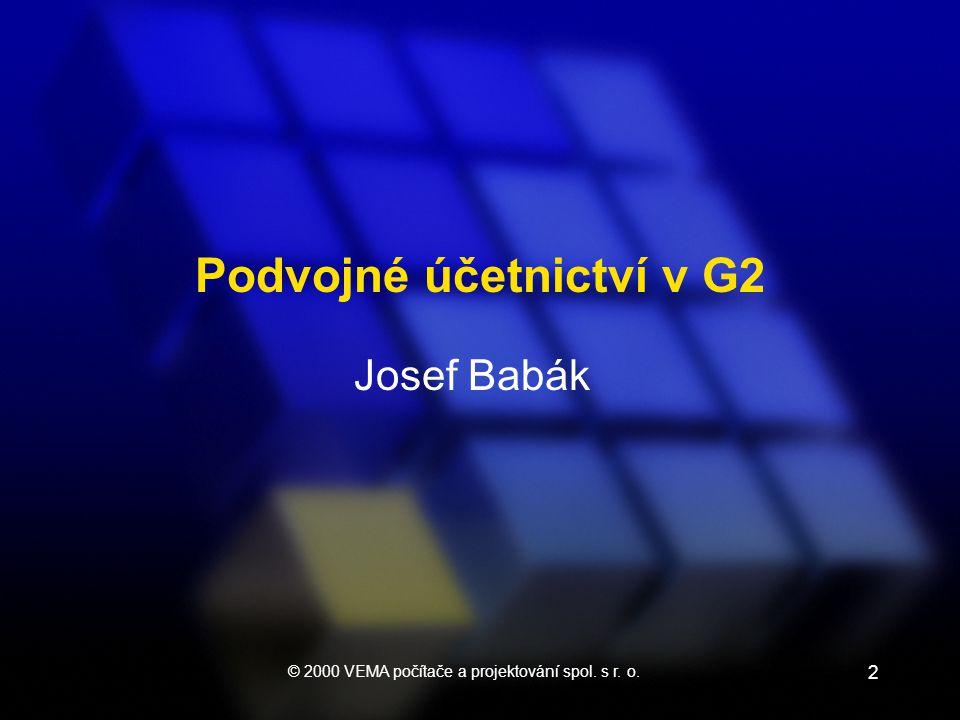 2 Josef Babák Podvojné účetnictví v G2