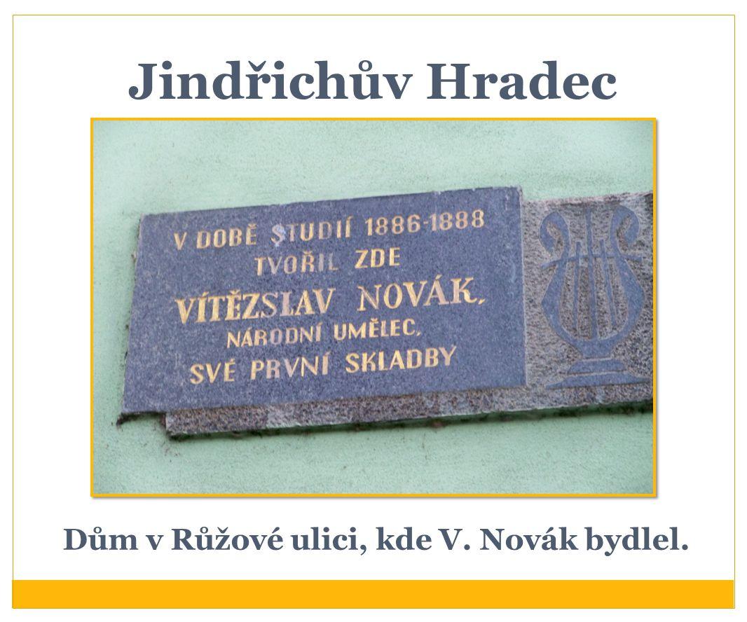 Vítězslav Novák V Praze studoval práva a současně i hudbu.