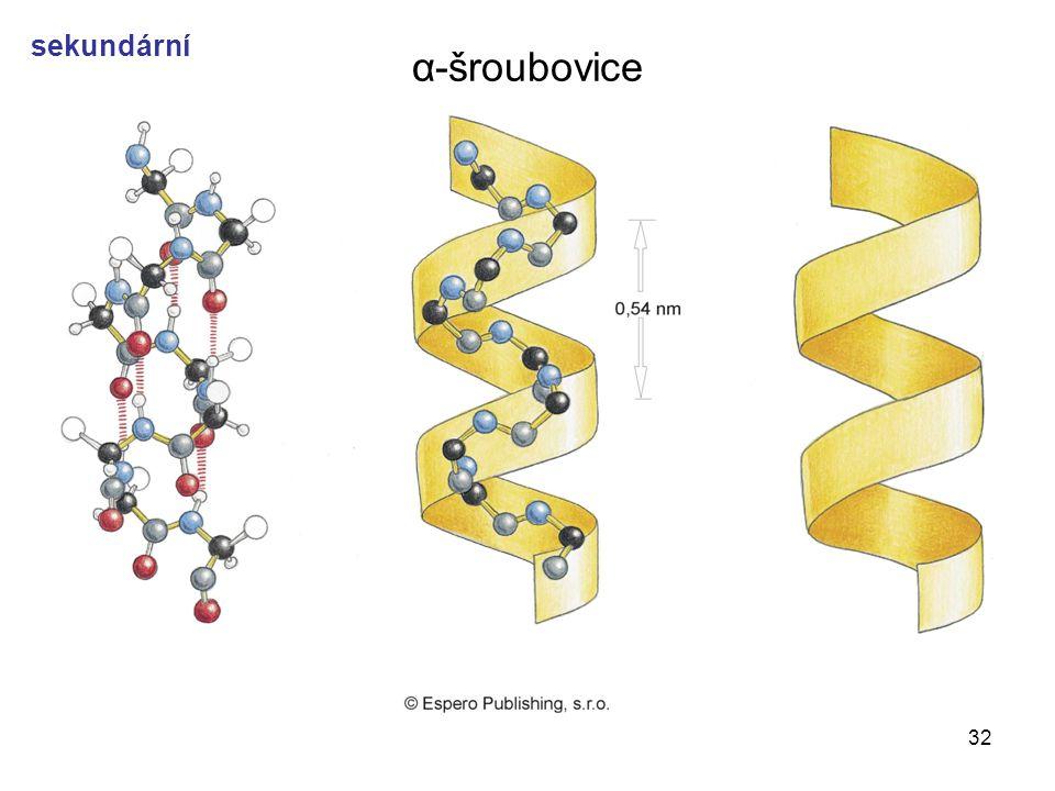 32 α-šroubovice sekundární