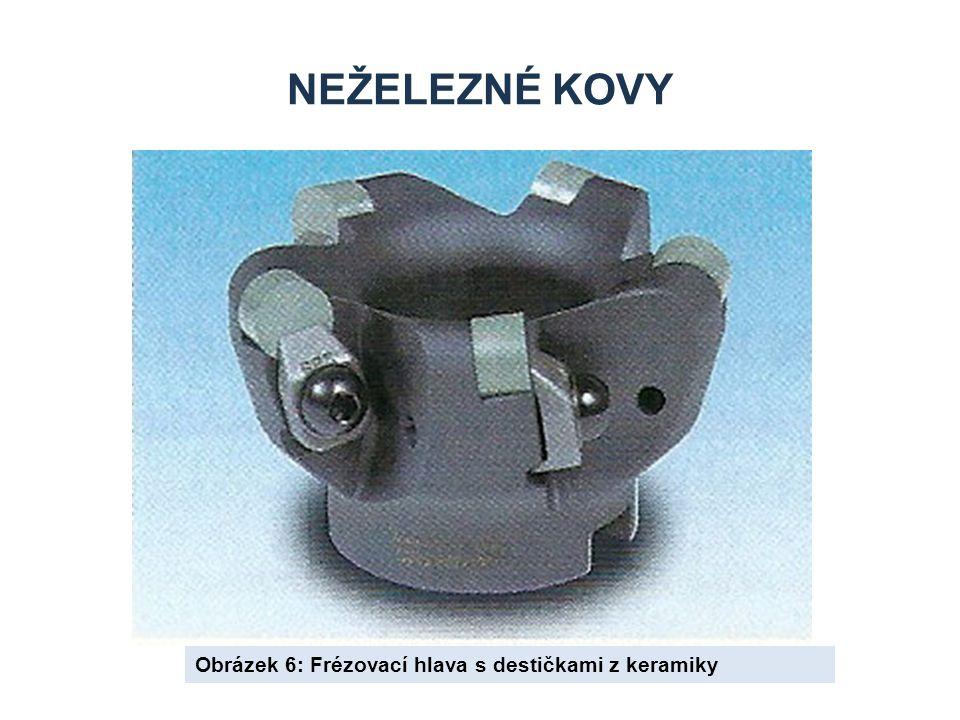 NEŽELEZNÉ KOVY Obrázek 6: Frézovací hlava s destičkami z keramiky