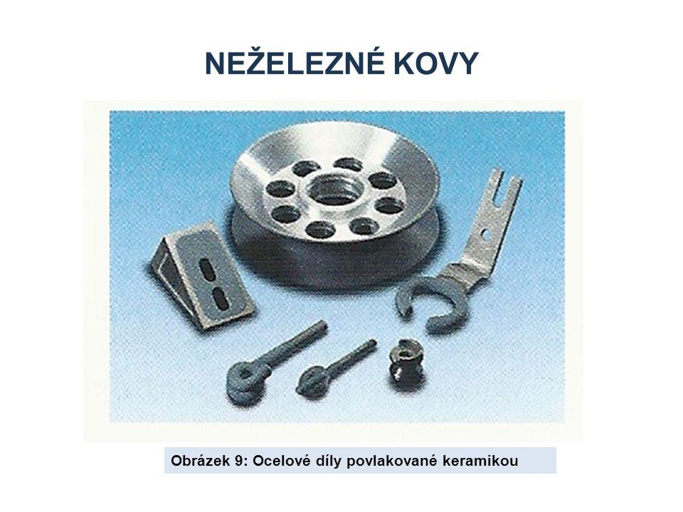 NEŽELEZNÉ KOVY Obrázek 9: Ocelové díly povlakované keramikou
