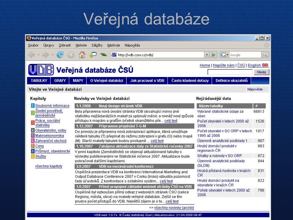 Veřejná databáze