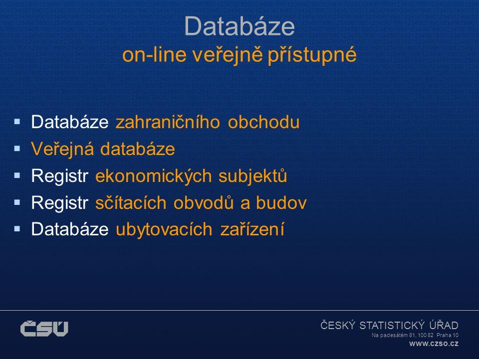 ČESKÝ STATISTICKÝ ÚŘAD Na padesátém 81, 100 82 Praha 10 www.czso.cz Sčítání lidu  Sčítání lidu, domů a bytů – SLDB (census)  Jednou za 10 let (poslední 2001, další 2011)  Speciální internetová stránka http://www.czso.cz/sldb/sldb.nsf/i/home