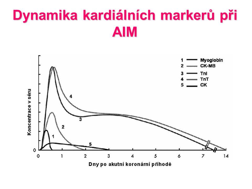Dynamika kardiálních markerů při AIM