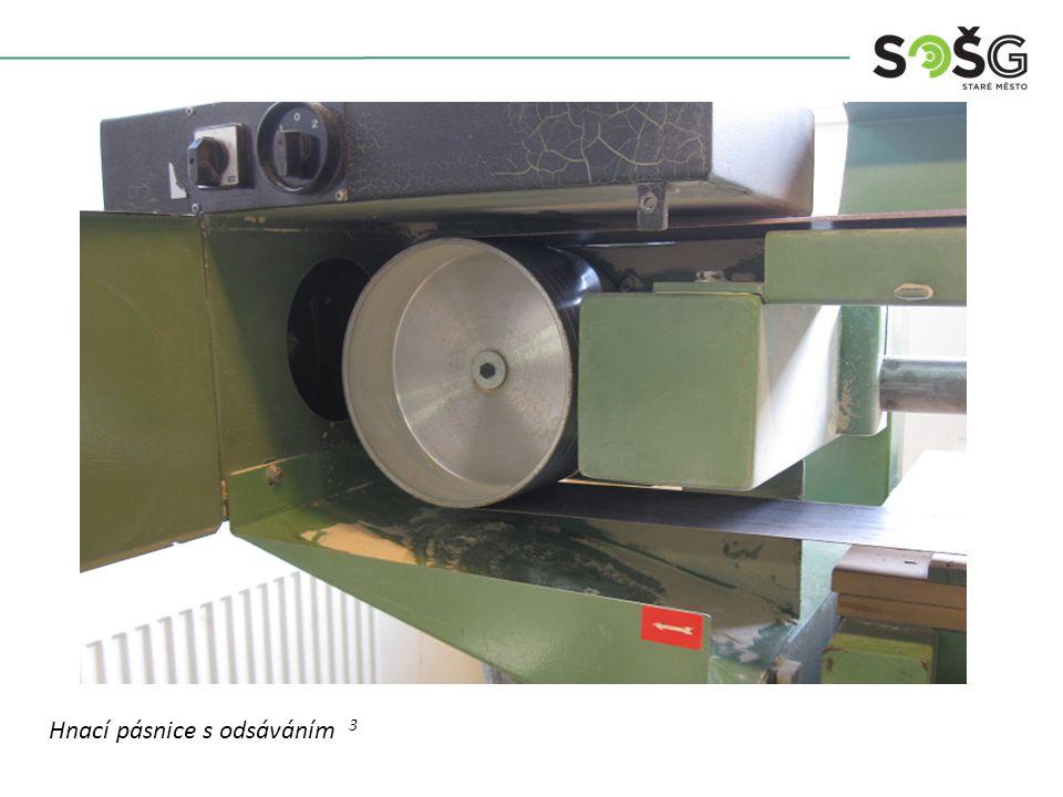 Vícekotoučová rozřezávací pila PWR 201 TOS Svitavy - detail Hnací pásnice s odsáváním 3