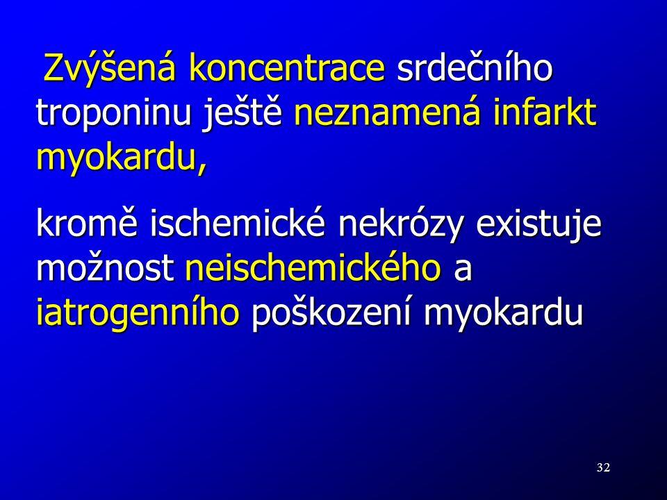 32 Zvýšená koncentrace srdečního troponinu ještě neznamená infarkt myokardu, Zvýšená koncentrace srdečního troponinu ještě neznamená infarkt myokardu,